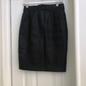 Dresses & Skirts - Black leather skirt